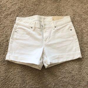 NWOT LOFT white jean shorts 2